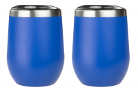 Blue Stemless Wine Glasses - 2 Pack