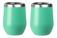 Teal Stemless Wine Glasses - 2 Pack