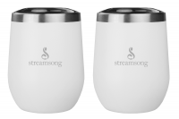 White Stemless Wine Glasses - 2 Pack