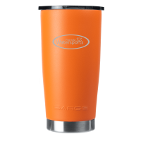 20oz Orange Gator Coated Tumbler