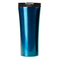 16oz Blue Java Tumbler With Flip Top Lid