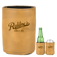 Rawhide - Leather Can & Bottle Cooler PROMO