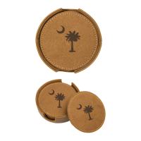 SC Water Warrior - Leather Coaster Set