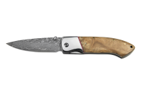 Brave - Maple Burl Damascus Folder